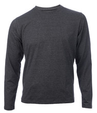 Heather Grey Longsleeve Shirt Used As Inner Or Base Layer In Layered Clothing For Thermal Insulation