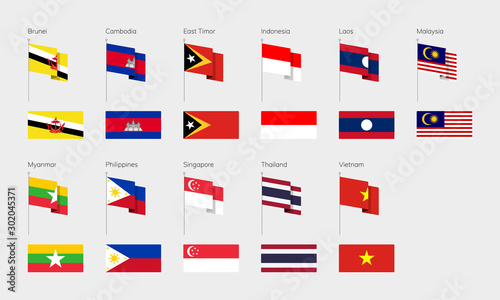 Foto Countries of Southeast Asia according to the UN classification