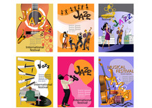 Design Of  Posters With Musici...