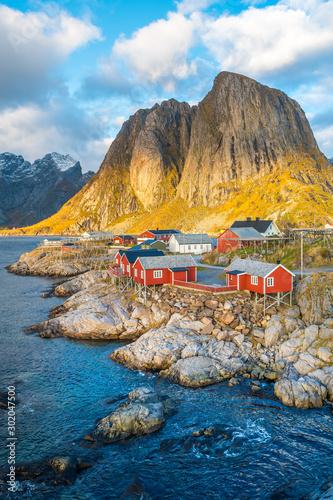 Photo reine fishing town at lofoten islands, norway