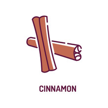 Rolled Sticks Of Cinnamon Colo...