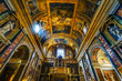 canvas print picture - Ceiling Frescoes Basilica Jesus and Mary Church Rome Italy