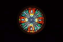Round Window With Stained Glass