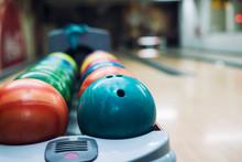 Colorful Bowling Balls At Bowl...