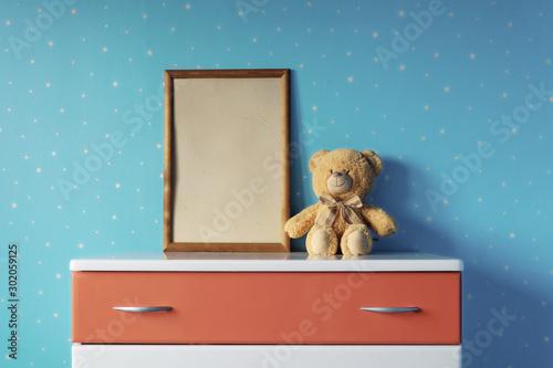 frame and teddy