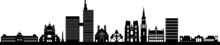 Brussels City Skyline Vector S...