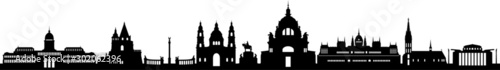 Photo  Budapest City Skyline Vecot Silhouette