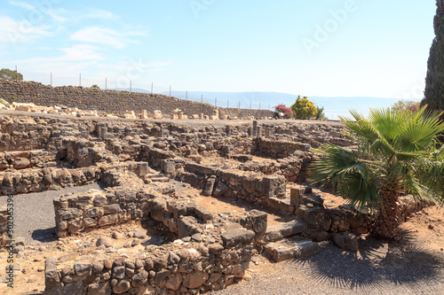 Photo Ruins of historic buildings in Capernaum, Israel