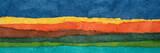 abstrakcyjna panorama krajobrazu - kolorowy zestaw papieru z teksturą