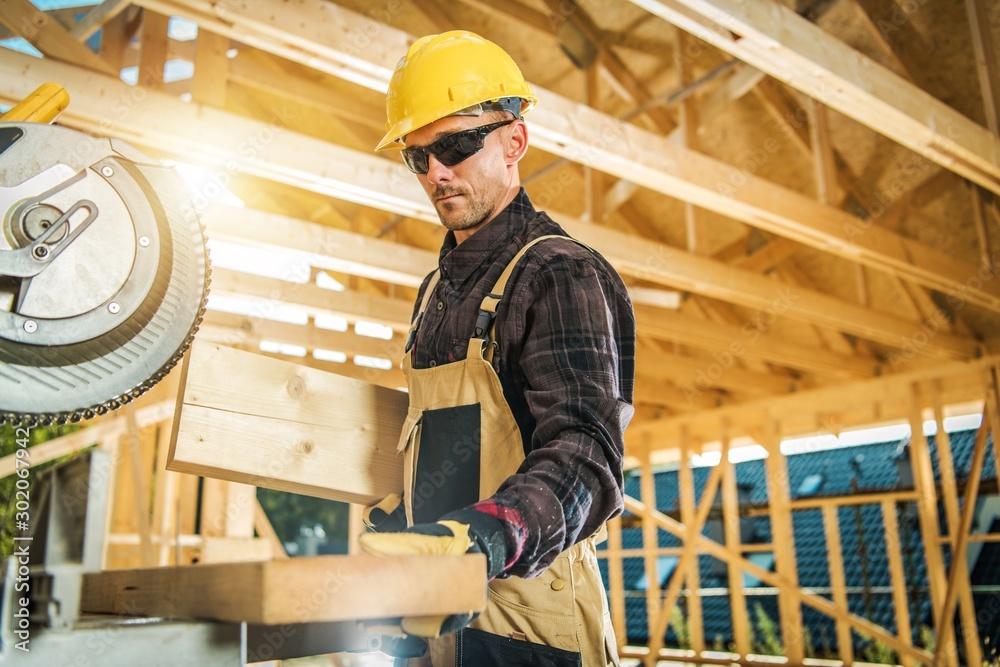 Fototapeta Caucasian Carpenter Worker
