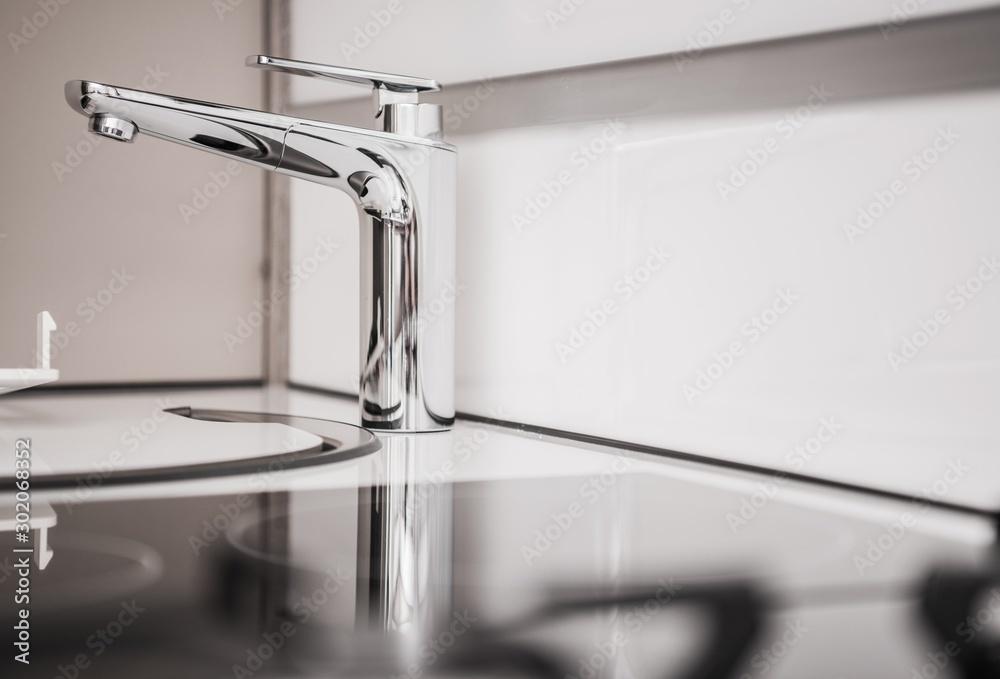 Fototapety, obrazy: RV Camper Sink Closeup
