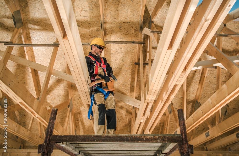 Fototapeta Skeleton Wood Construction