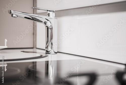 fototapeta na ścianę RV Camper Sink Closeup