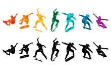 Skate People Silhouettes Skate...