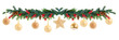 canvas print picture - Christmas garland on white