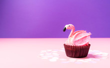 Pink Flamingo Cupcake On Paste...