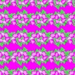 canvas print picture - seamless floral pattern on pink background. astras