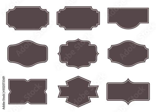 Fotografia Vintage labels. Retro frames set. Vector