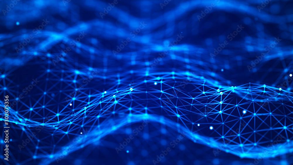 Fototapeta Data technology background. Abstract digital background. Science background. Technological background. Matrix. Binary Code. 3D rendering. 4k.