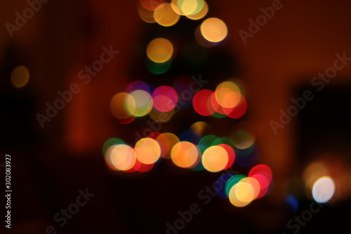 Valokuva  effetto bokeh con le luci di natale 3