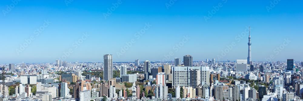 Fototapety, obrazy: (東京都-風景パノラマ)ラウンジから望む墨田方面の風景1
