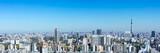 (東京都-風景パノラマ)ラウンジから望む墨田方面の風景1