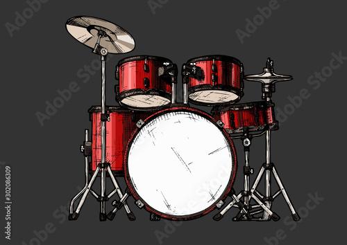 Fotografia illustration of drum kit
