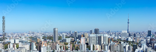 Autocollant pour porte Photos panoramiques (東京都-風景パノラマ)ラウンジから望む墨田方面の風景1