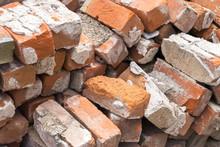 Pile Of Used Bricks