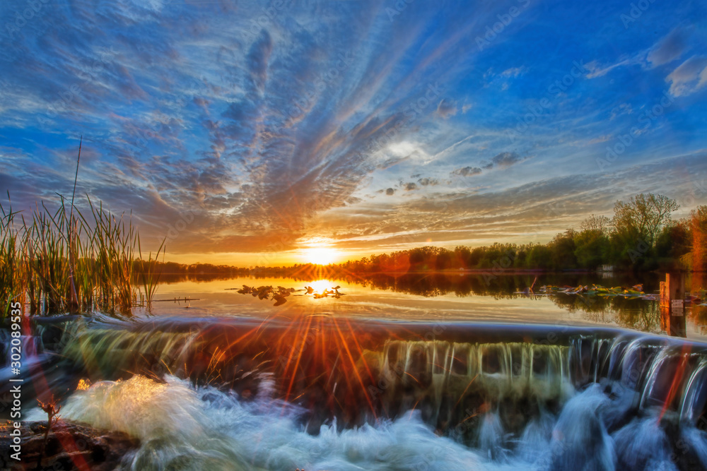 Fototapety, obrazy: Sunset at the Spillway