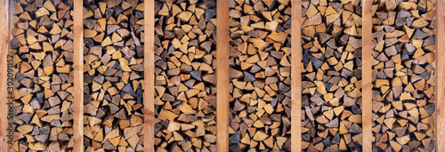 Foto op Plexiglas Brandhout textuur woodpile for fireplace, background of firewood