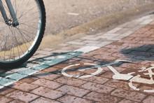 Bicycle Path In Komotini, Greece