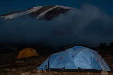 Evening View Of Kibo With Uhuru Peak Kilimanjaro