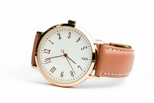 Woman Watch With Brown Band Is...
