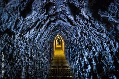 Fotografie, Obraz  Tunnel inside a pyramyd