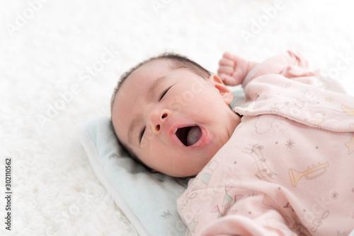 Photo 赤ちゃん あくび