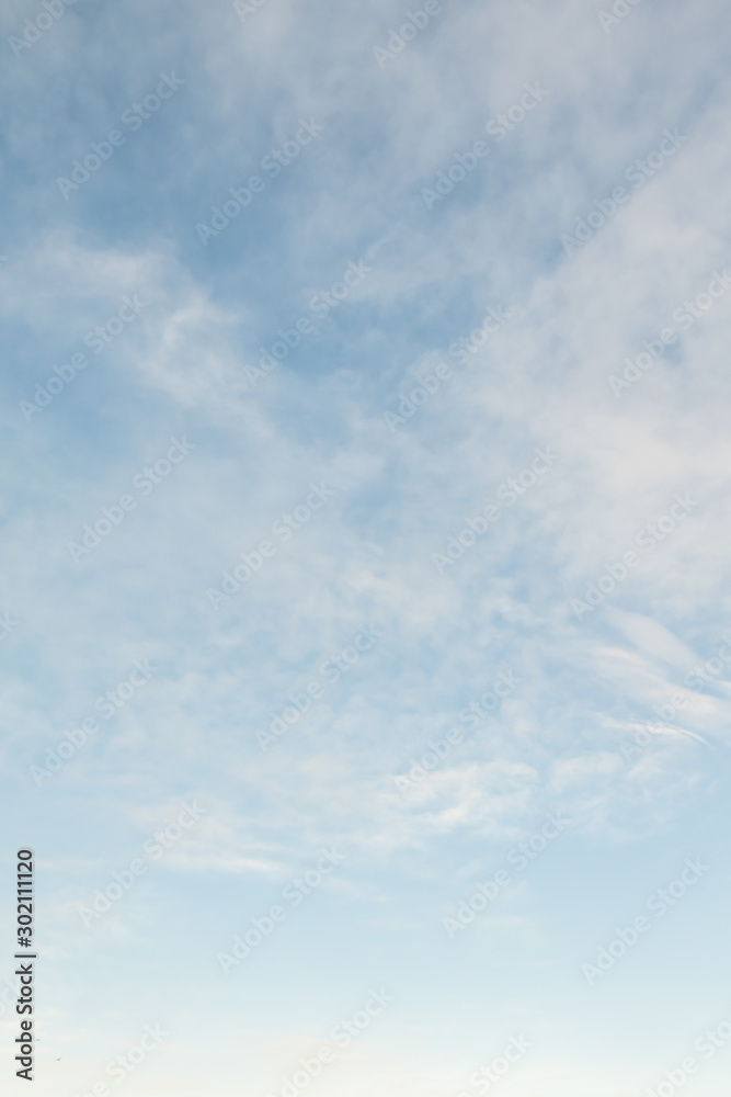 Fototapety, obrazy: Blue sky background with white clouds, high clouds. Altostratus, Cirrocumulus, Cirrus.