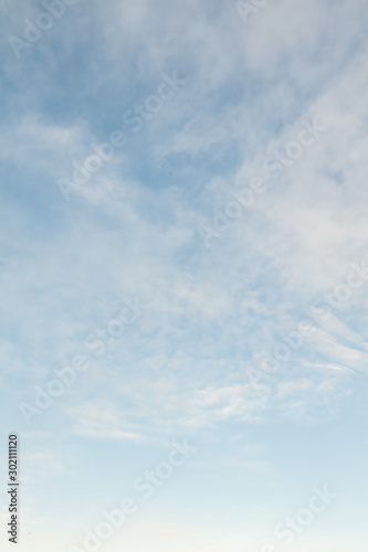 Blue sky background with white clouds, high clouds Tablou Canvas