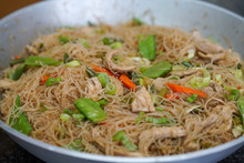 Closeup Of Pancit Bihon Rice N...