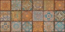 Grunge Art,colorful Geometric Patterns And Floral Designs,wall Paper Design.