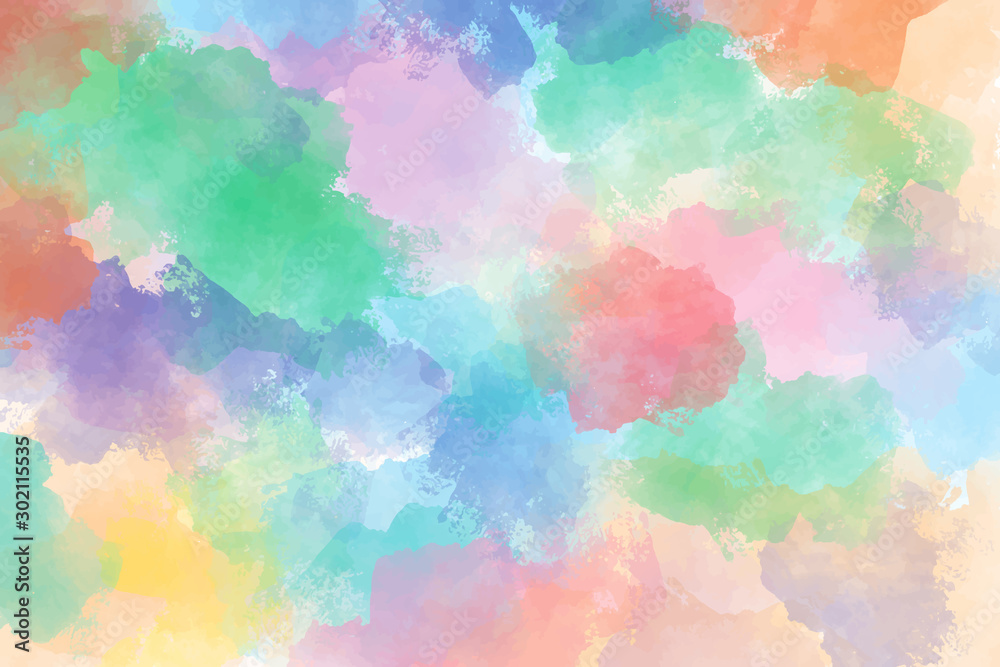 Fototapeta children art colorful messy watercolor background eps10 vectors illustration