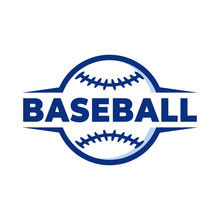 Simple Cool Baseball Logo Design