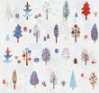 木のパターン冬色4