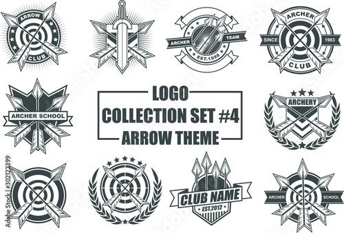 Fényképezés Set of Design Elements with Arrow Theme