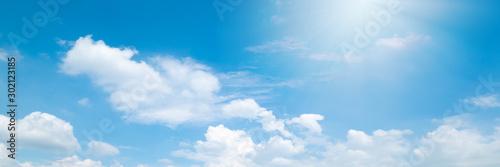 Photo  Beautiful blue sky cloudsfor background. Panorama of sky.