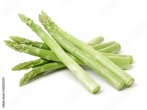Asparagus on a white background Wallpaper Mural