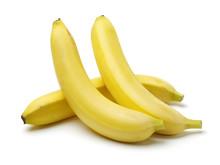 Fresh Ripe Bananas On White Ba...
