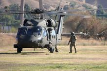 A U.S. Army Blackhawk Helicopt...