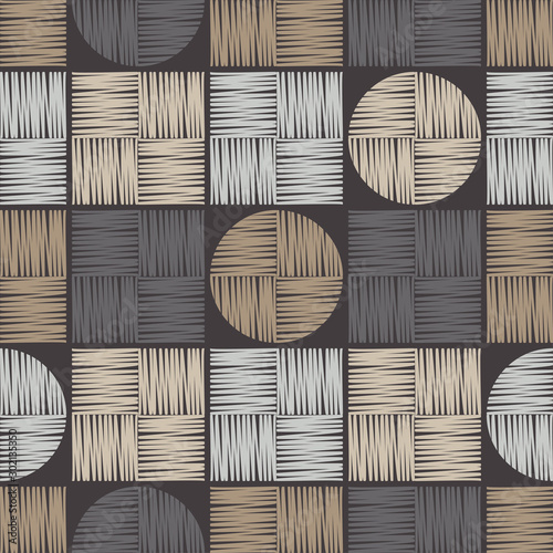 Fond de hotte en verre imprimé Style Boho Ethnic boho seamless pattern. Lace. Embroidery on fabric. Patchwork texture. Weaving. Traditional ornament. Tribal pattern. Folk motif. Vector illustration for web design or print.