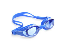 Blue Swim Goggles Isolated On ...